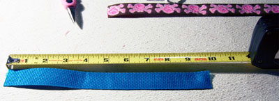 Making a Key Fob - Measure Your Webbing