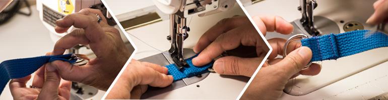 Sewing a webbing Loop closed
