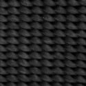 3/4 Inch Black Nylon Heavy Webbing -Swatch