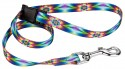 Tie Dye Flowers Choker Style Grooming Loop - Secondary View