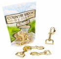 1 Inch Brass Plated Swivel Snap Hooks