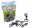 Country Brook Design® 1 Inch Gunmetal Swivel Snap Hooks