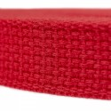 1 Inch Red Heavy Cotton Webbing - Close Up View