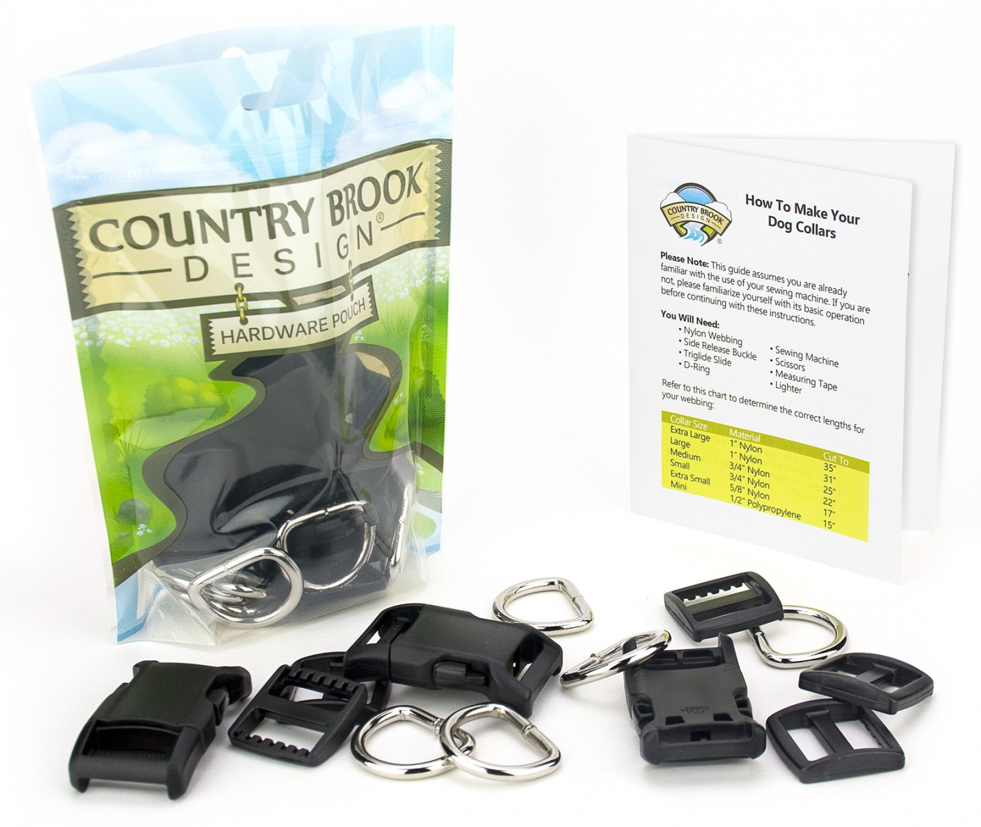 ck bla 1 10 dog collar kit package view dog collar hardware kits includes instructions!
