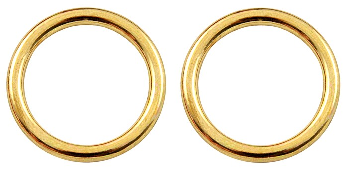 Buy 1 2 Inch Die Cast Brass Plated O Rings Closeout Online