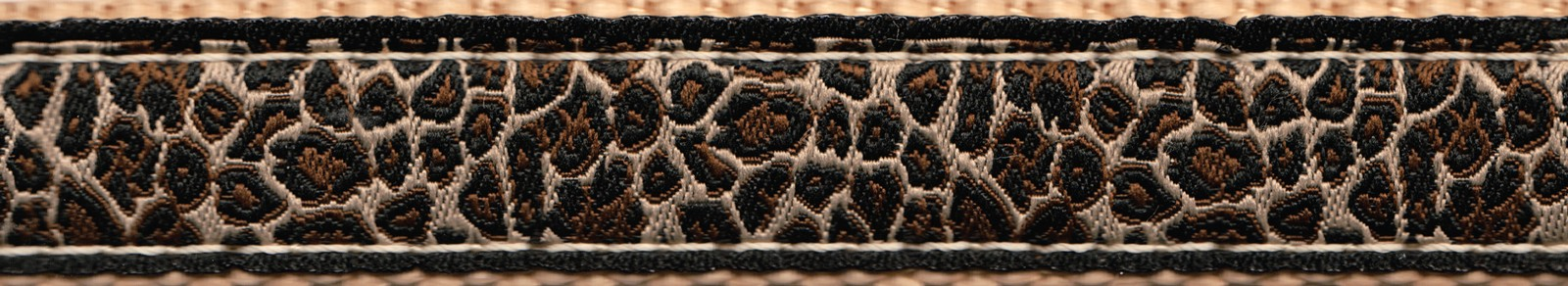 Buy 34 Inch Leopard Print Ribbon On Copper Gold Nylon Webbing