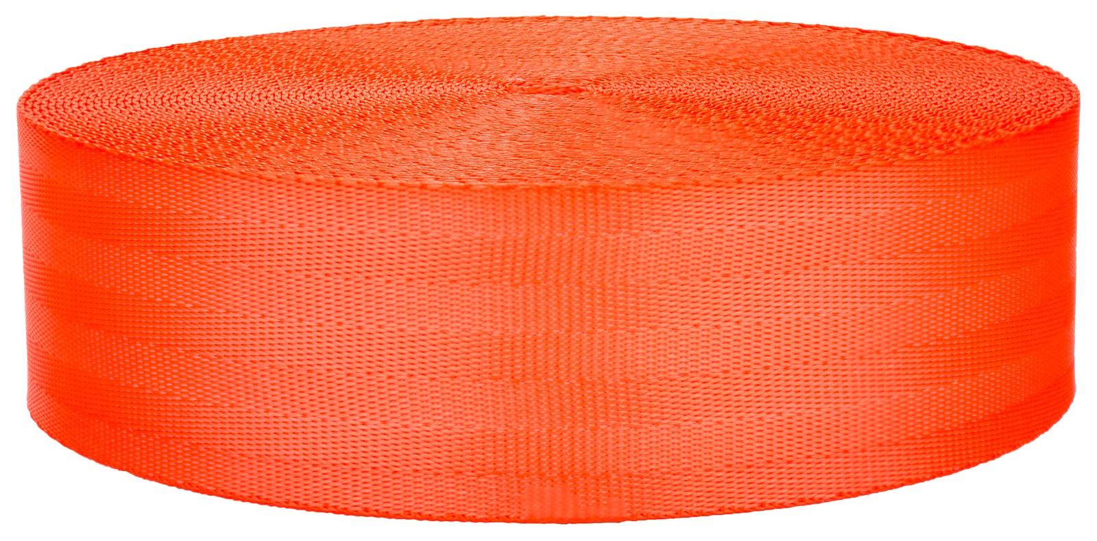 Buy 2 Inch Seat Belt Hot Orange Polyester Webbing Closeout