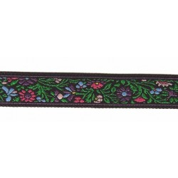 5/8 Inch Vine with Flowers Woven Jacquard Braid Ribbon