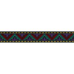1 Inch Navajo Woven Jacquard Braid Ribbon