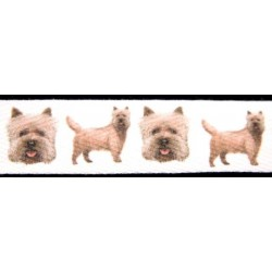 Cairn Terrier Cotton Ribbon - Various Lengths & Widths