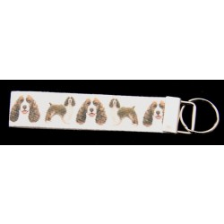 Spinger Spaniel Dog Ribbon Key Chain Fob