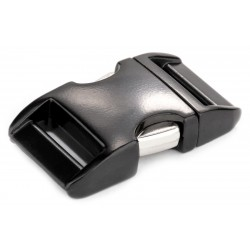3/4 Inch Black Aluminum Side Release Buckles