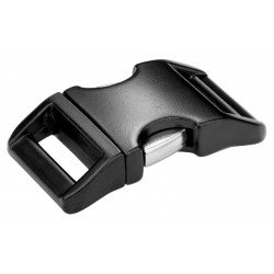 1 Inch Black Contoured Aluminum Side Release Buckles