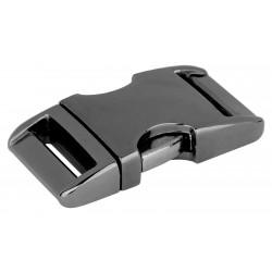 3/4 Inch Gunmetal Aluminum Side Release Buckles