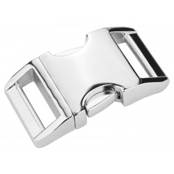 3/4 Inch Contoured Aluminum Side Release Buckles