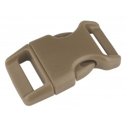 5/8 Inch Desert Tan Contoured Side Release Plastic Buckle Closeout