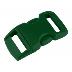 3/8 Inch Forest Green Contoured Side Release Plastic Buckle Closeout