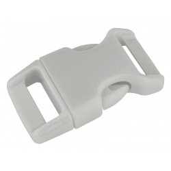 5/8 Inch Grey Contoured Side Release Plastic Buckle Closeout