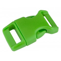5/8 Inch Hot Lime Green Contoured Side Release Plastic Buckle Closeout