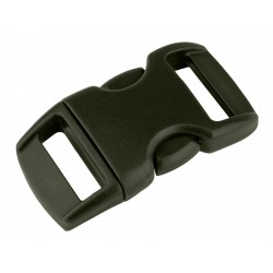 3/8 Inch Olive Drab Green Contoured Side Release Plastic Buckle Closeout