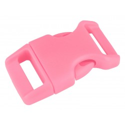 5/8 Inch Pink Contoured Side Release Plastic Buckle Closeout