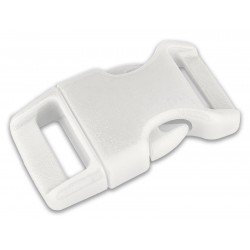 5/8 Inch White Contoured Side Release Plastic Buckle Closeout