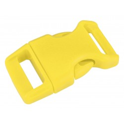 5/8 Inch Yellow Contoured Side Release Plastic Buckle Closeout