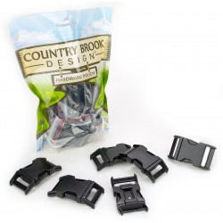 3/4 Inch Black Powder Coated Contoured Buckle