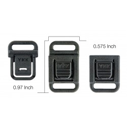 3/8 Inch Center Button Quick Release Buckle