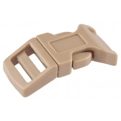 5/8 Inch Coyote Tan Economy Contoured Side Release Plastic Buckles
