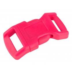 1/2 Inch Hot Pink Economy Contoured Side Release Plastic Buckle Closeout