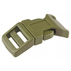 5/8 Inch Olive Drab Green Economy Contoured Side Release Plastic Buckles