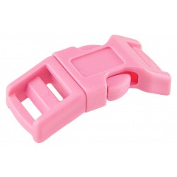 1/2 Inch Pink Economy Contoured Side Release Plastic Buckles