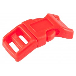 1/2 Inch Red-Orange Economy Contoured Side Release Plastic Buckles