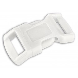 1/2 Inch White Economy Contoured Side Release Plastic Buckle Closeout