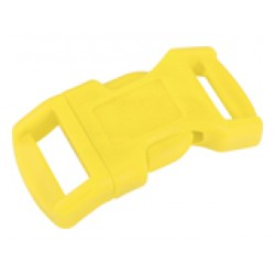 1/2 Inch Yellow Economy Contoured Side Release Plastic Buckle Closeout