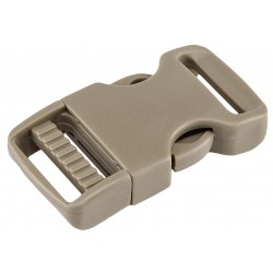 1 Inch Coyote Tan Economy Flat Side Release Plastic Buckles