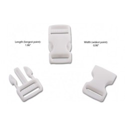 3/4 Inch White Titan Side Release Plastic Buckles