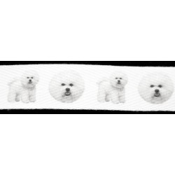 Bichon Frises Cotton Ribbon - Various Lengths & Widths
