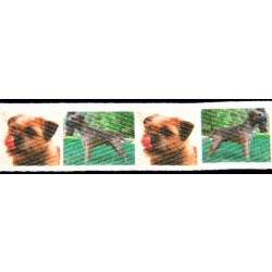1 Yard 5/8 Inch Border Terrier Cotton Ribbon