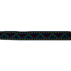 1 Inch Colorful Aztec Woven Jacquard Braid Ribbon