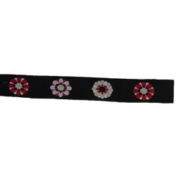 1/2 Inch Kaleidoscopic Floral Woven Jacquard Braid Ribbon
