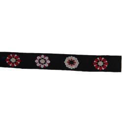 1/2 Inch Kaleidoscopic Floral Woven Jacquard Braid Ribbon