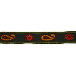 7/8 Inch Sunshine Paisley Woven Jacquard Braid Ribbon