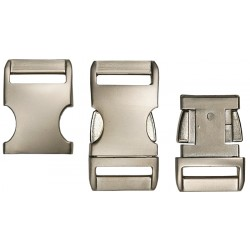 1 Inch Satin Contoured Aluminum Side Release Buckles