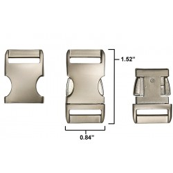 5/8 Inch Satin Aluminum Side Release Buckles