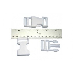 1 Inch White Side Release Plastic Buckles