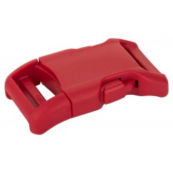 1 Inch Red YKK Contoured Side Release Plastic Buckle