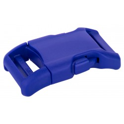 1 Inch Royal Blue YKK Contoured Side Release Plastic Buckle
