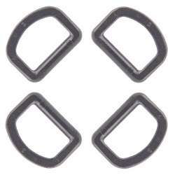 1 Inch Nexus Black Plastic D-Ring Closeout